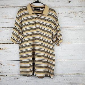 Greg Norman Striped Golf Shirt